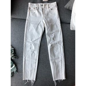 Levi's Wedgie high waisted white jeans size 24